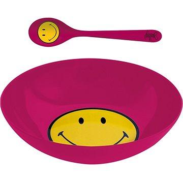 ZAK Snídaňový set SMILEY 17cm, barva malinová (6187-2304)