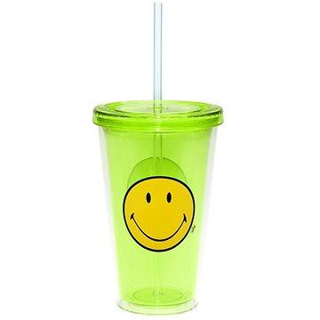 ZAK Dvoustěnná ICE plastová sklenice SMILEY 490ml zelená (6187-0850)