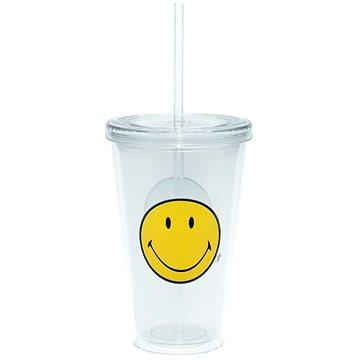 ZAK Dvoustěnná ICE plastová sklenice SMILEY 490ml transparentní (6187-0852)