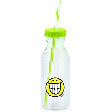 ZAK Soda láhev s brčkem SMILEY 550ml zelená (6727-0170)