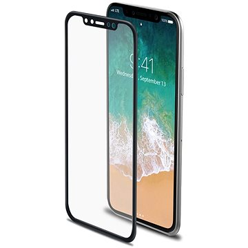 CELLY Glass pro iPhone X černé (3DGLASS900BK)