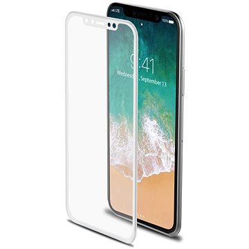 CELLY Glass pro iPhone X bílé (3DGLASS900WH)