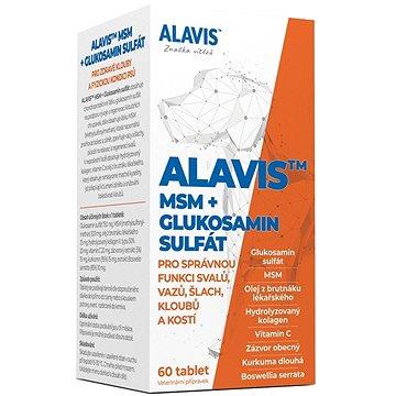 Alavis MSM + Glukosamin sulfát 60 tbl. (8594191410103)