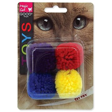MAGIC CAT hračka míček bavlna s catnip 3,75 cm 4 ks (8595091786190)