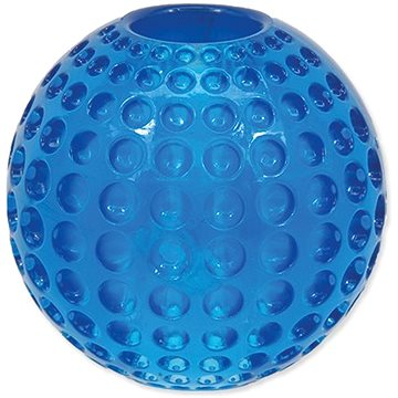 DOG FANTASY hračka strong míček guma s důlky modrá 6,3 cm (8595091784400)