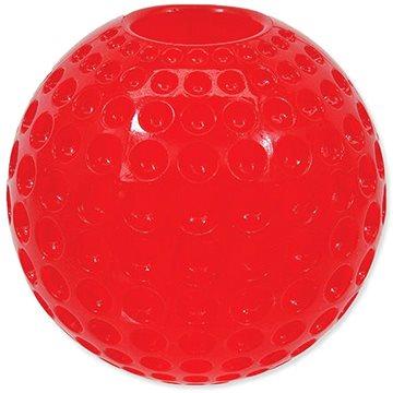 DOG FANTASY hračka strong míček guma s důlky červená 6,3 cm (8595091784417)