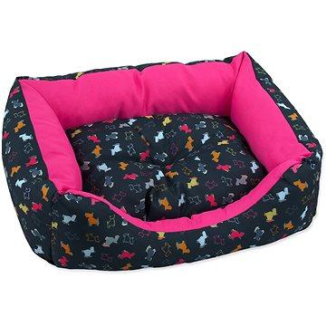 DOG FANTASY Sofa 83 × 70 × 20 cm origami pes mix černo-růžová (8595091797875)