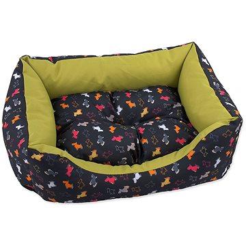 DOG FANTASY Sofa 83 × 70 × 20 cm origami pes mix černo-zelená (8595091797929)