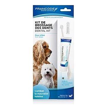 Francodex Dental Kit zubní pasta 70 g + kartáček pes (3283021723609)