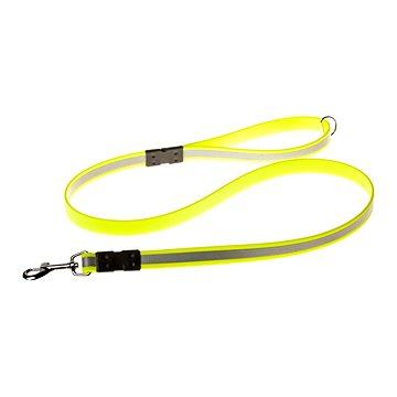 Biothanové reflexní vodítko do ruky - žluté, šířka 19 mm (8595690800198)