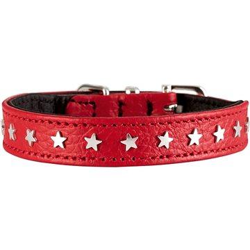 Hunter obojek Capri Mini Star, červený 23 - 27 cm (4016739633842)