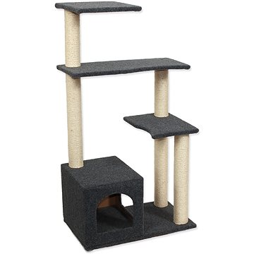 Magic Cat Odpočívadlo MC Leona 60×35×114cm koberec šedé (8595091799305)