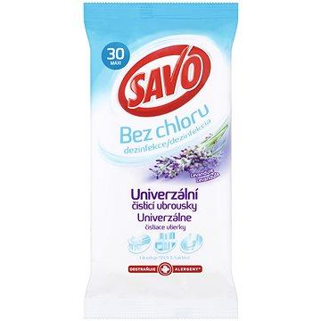 Čisticí ubrousky SAVO Bez Chloru Univerzální čistící ubrousky Levandule 30 ks (8710908444531)