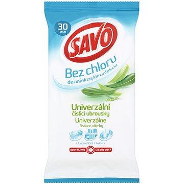 Čisticí ubrousky SAVO Bez Chloru Univerzální čistící ubrousky Eukalyptus 30 ks (8710908443558)