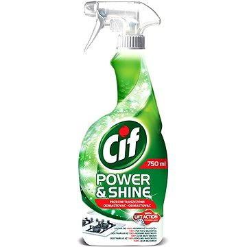 Čisticí prostředek CIF Power&Shine odmašťovač 750 ml (8712561142342) + ZDARMA Houba VILEDA houbička