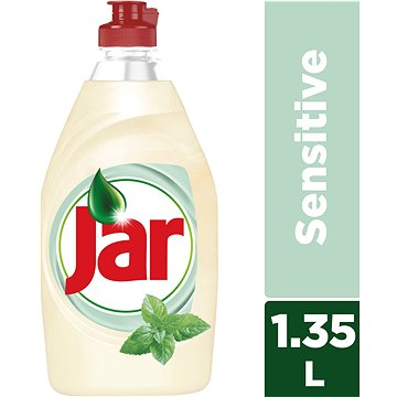 Čistič na nádobí JAR Sensitive Tea Tree & Mint 1,35 l (4015400991519)