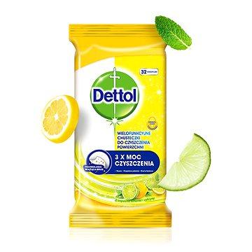 DETTOL Antibakteriální ubrousky na povrchy Citron a Limeta 32 ks (5900627074307)