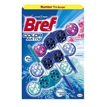WC blok BREF Color Aktiv Mix 3 x 50g (9000101302332)