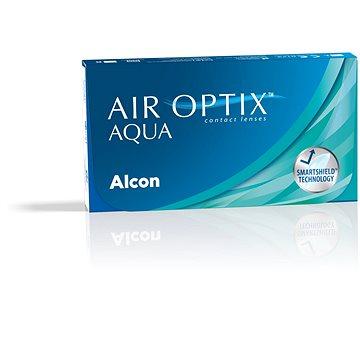 Kontaktní čočky Air Optix Aqua (3 čočky) dioptrie: +1.00, zakřivení: 8.60 (846566554515)