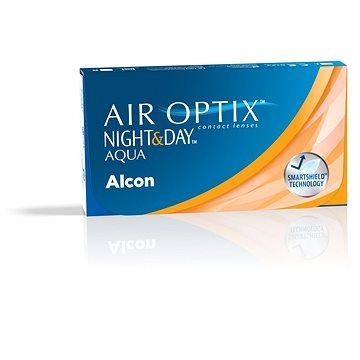 Kontaktní čočky Air Optix Night and Day Aqua (3 čočky) dioptrie: -0.75, zakřivení: 8.40 (8465
