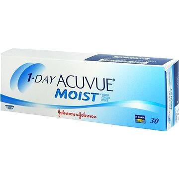 Kontaktní čočky 1 Day Acuvue Moist (30 čoček) dioptrie: +0.50, zakřivení: 8.50 (733905576874)