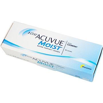 Kontaktní čočky 1 Day Acuvue Moist (30 čoček) dioptrie: +4.50, zakřivení: 9.00 (733905576805)