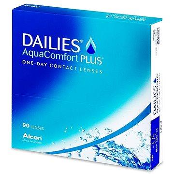 Kontaktní čočky Dailies AquaComfort Plus (90 čoček) dioptrie: -3.00, zakřivení: 8.70 (630175476500)