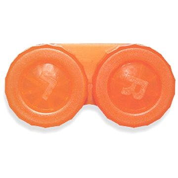 Pouzdro na kontaktní čočky Pouzdro klasické (náhradní) jednobarevné Oranžové (WOPNP8)