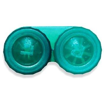 Pouzdro na kontaktní čočky Pouzdro klasické (náhradní) jednobarevné Tmavě zelené (WOPNP10)