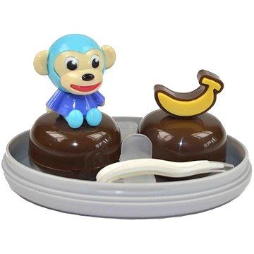 Pouzdro na kontaktní čočky Sestava opice modrá (WKPSOM)