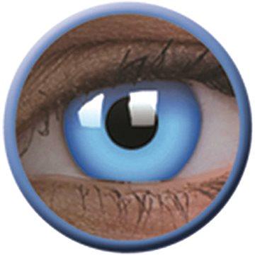 Kontaktní čočky ColourVue Crazy čočky UV svítící - Glow Blue (2 ks roční) - nedioptrické (9555644813512)