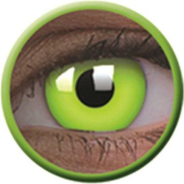 Kontaktní čočky ColourVue Crazy čočky UV svítící - Glow Green (2 ks roční) - nedioptrické (9555644813529)