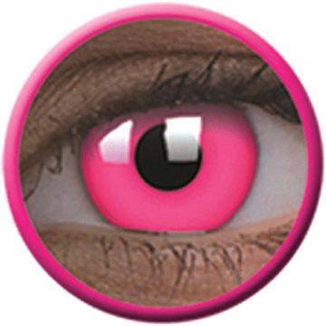 Kontaktní čočky ColourVue Crazy čočky UV svítící - Glow Pink (2 ks roční) - nedioptrické (9555644813505)