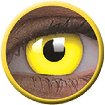 Kontaktní čočky ColourVue Crazy čočky UV svítící - Glow Yellow (2 ks roční) - nedioptrické (9555644813536)