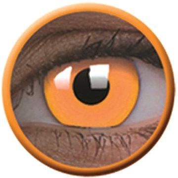 Kontaktní čočky ColourVue Crazy čočky UV svítící - Glow Orange (2 ks roční) - nedioptrické (9555644813543)