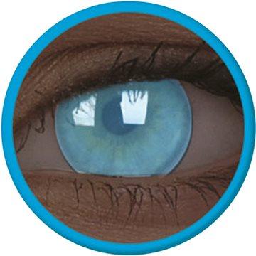 Kontaktní čočky ColourVue Crazy čočky UV svítící - Electric Blue (2 ks roční) - nedioptrické (9555644813550)