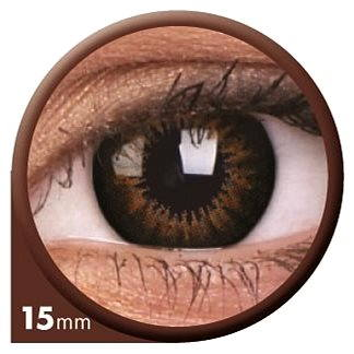 Kontaktní čočky ColourVUE dioptrické Big Eyes (2 čočky), barva: Be sweet honey, dioptrie: -8.00 (9555644803414)