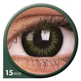 Kontaktní čočky ColourVUE dioptrické Big Eyes (2 čočky), barva: Be party green, dioptrie: -0.50 (9555644803438)