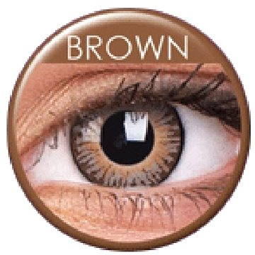 Kontaktní čočky ColourVUE dioptrické 3 Tones (2 čočky), barva: Brown, dioptrie: -5.50 (9555644800765)