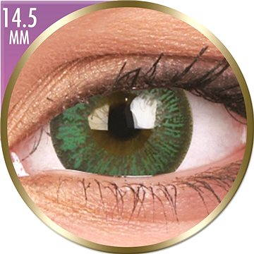 Kontaktní čočky ColourVUE dioptrické Phantasee Big Eyes (2 čočky), barva: Paris Green , dioptrie: -7.50 (9555644823665)