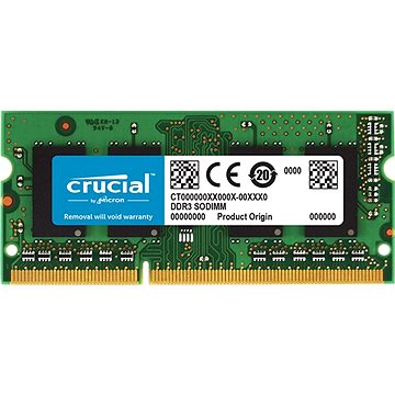 Crucial SO-DIMM 4GB DDR3L 1600MHz CL11 Single Ranked pro Mac (CT4G3S160BJM)