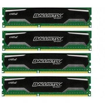 Crucial 32GB KIT DDR3 1600MHz CL9 Ballistix Sport - BLS4CP8G3D1609DS1S00BEU