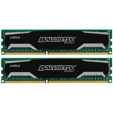 Crucial 16GB KIT DDR3 1600MHz CL9 Ballistix Sport - BLS2CP8G3D1609DS1S00CEU