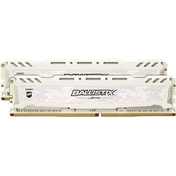 Crucial 16GB KIT DDR4 2666MHz CL16 Ballistix Sport LT White (BLS2C8G4D26BFSCK)