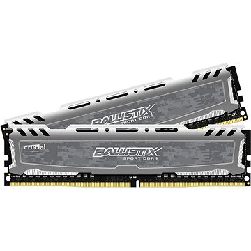 Crucial 16GB KIT DDR4 3000MHz CL16 Ballistix Sport LT Single Ranked Grey (BLS2C8G4D30BESBK)