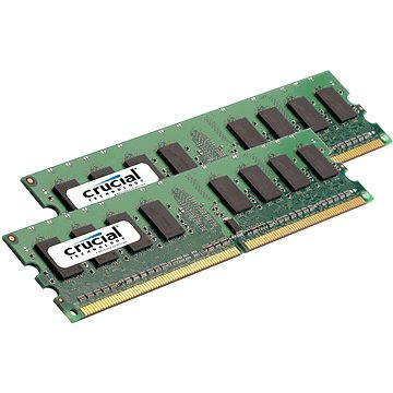 Crucial 4GB KIT DDR2 800MHz CL5 ECC Unbuffered - CT2KIT25672AA80EA