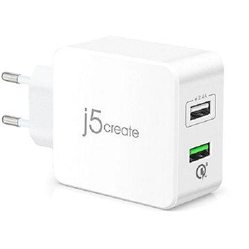 J5CREATE JUP20 2-Port USB QC 3.0 Super Charger