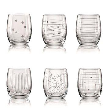 BOHEMIA CRYSTAL na vodu/whisky 300ml 6ks ELEMENTS (8593401842543)