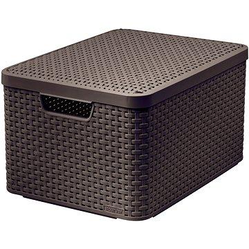 Curver STYLE BOX s víkem L, 03619-210 – hnědý (03619-210)
