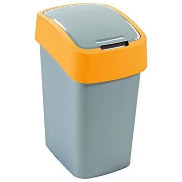 Odpadkový koš Curver Odpadkový koš 50l stříbrná/žlutá Flipbin (02172-535)